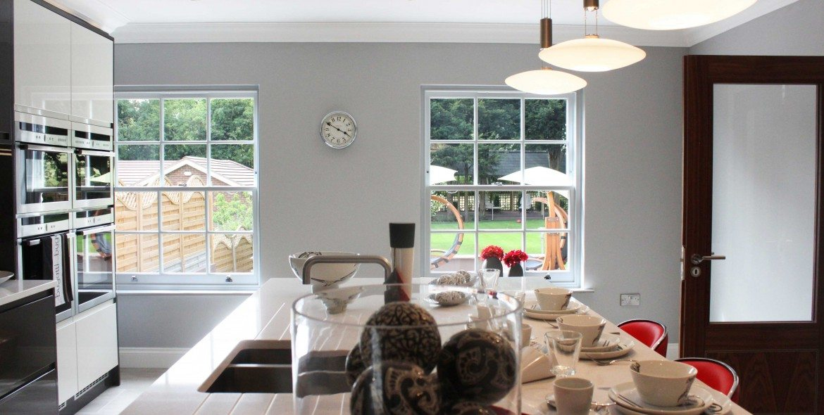 Gallery Image: Interior view of Georgian 6 over 6 sash windows installed in Chigwell mansion.