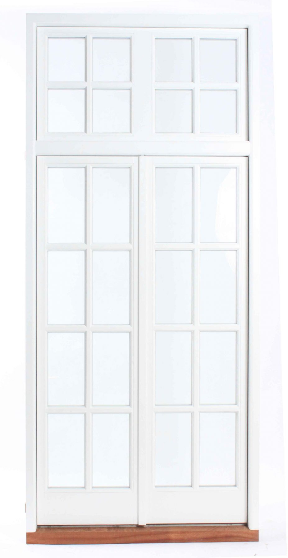 Gallery Image: External photo of French Door, with fixed fanlight above, including Georgian Bars
