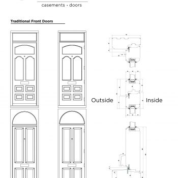 Technical Drawings of traditional front door profiles