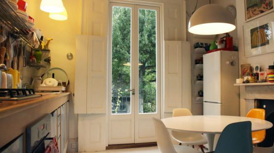 Gallery Image: Internal view of French Doors with small timber panelling to the bottom
