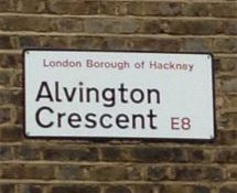 Alvington Crescent, E8, Hackney, East London