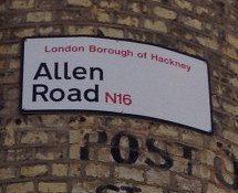 Allen Road, N16, Hackney, North London