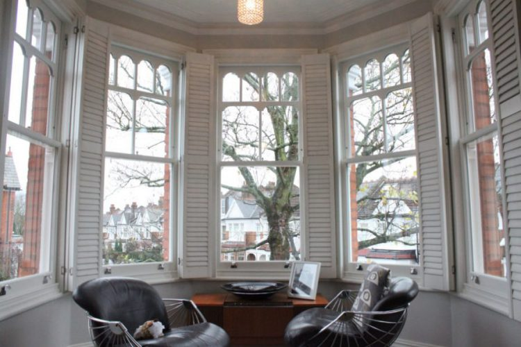 Gallery Image: Internal photo of sash window bay, muswell hill style