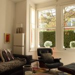Gallery Image: Internal view of 1 over 1 sash windows, in modern living room