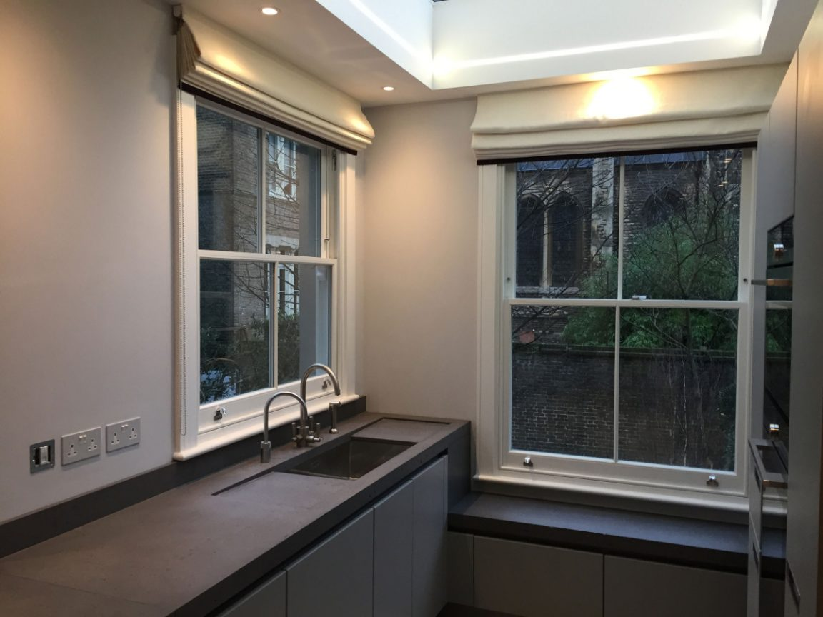 Sash windows with four sections in South Woodford E11