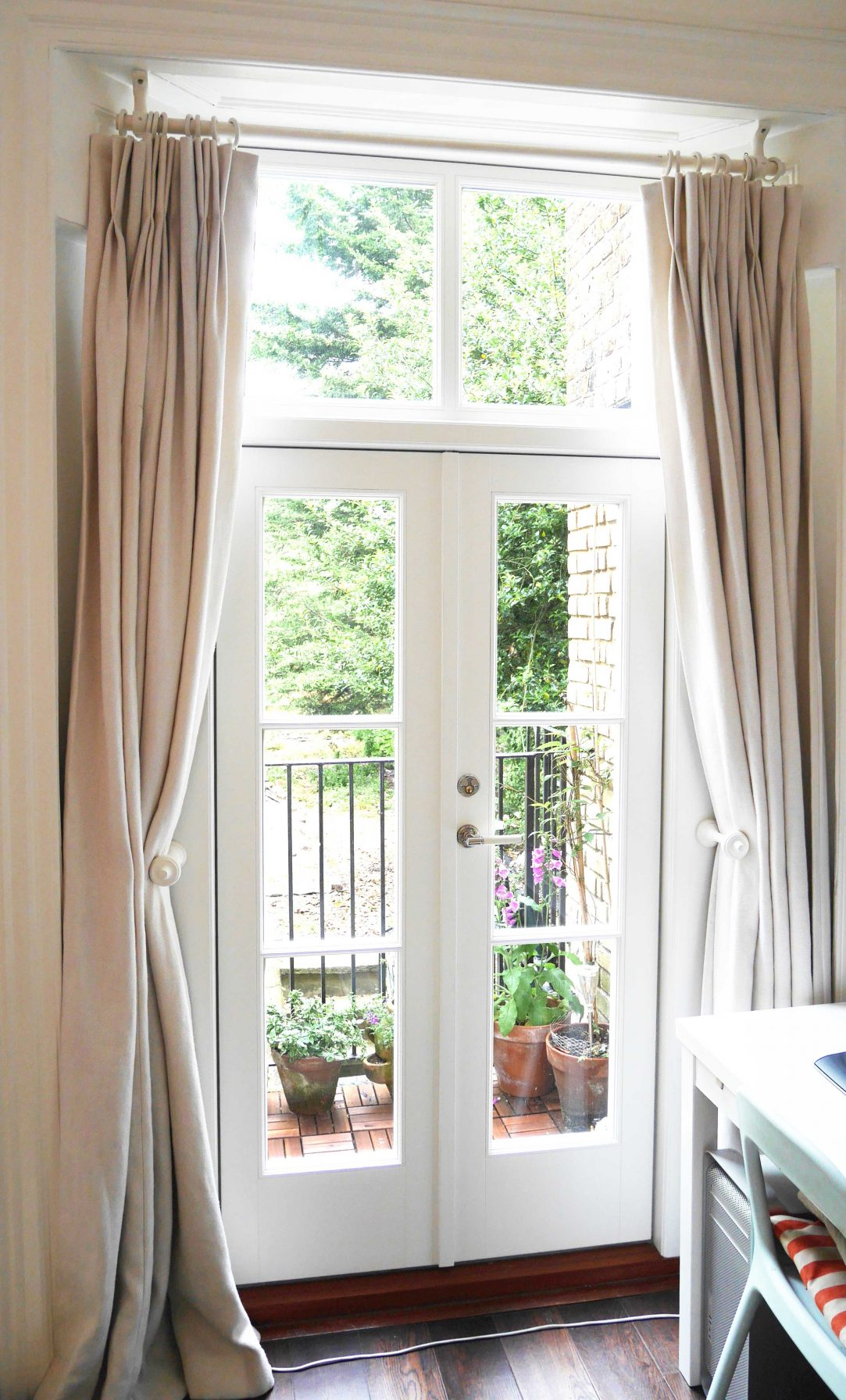 Gallery Image: Internal view of French Doors with Georgian bars and fixed fanlight