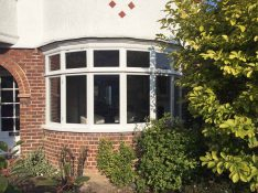 Gallery Image: External view of rounded casement bay installed in Muswell Hill house