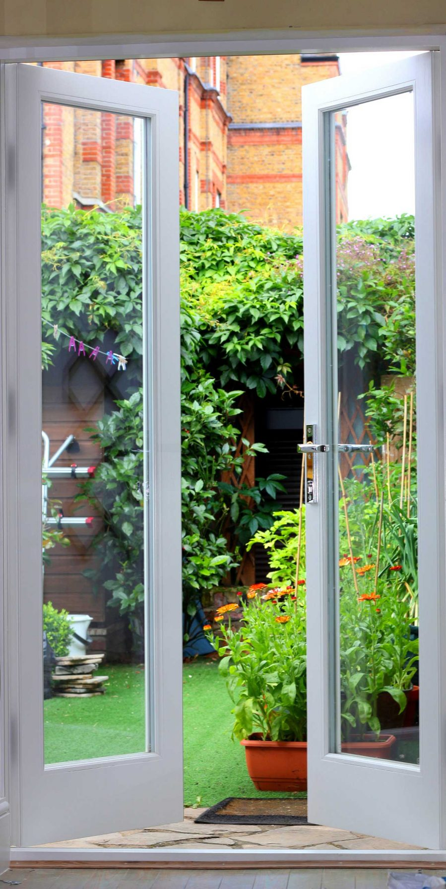 Gallery Image: Internal view of French Doors leading to London garden