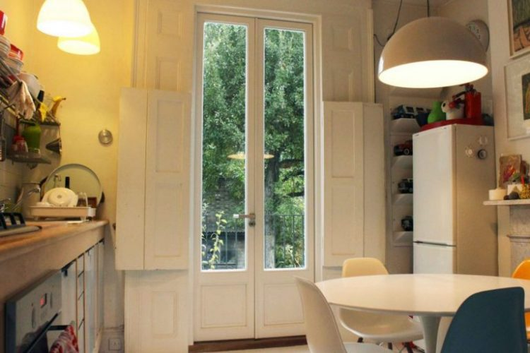 Gallery Image: French Door /w Thin Stiles and Timber Panels To Bottom