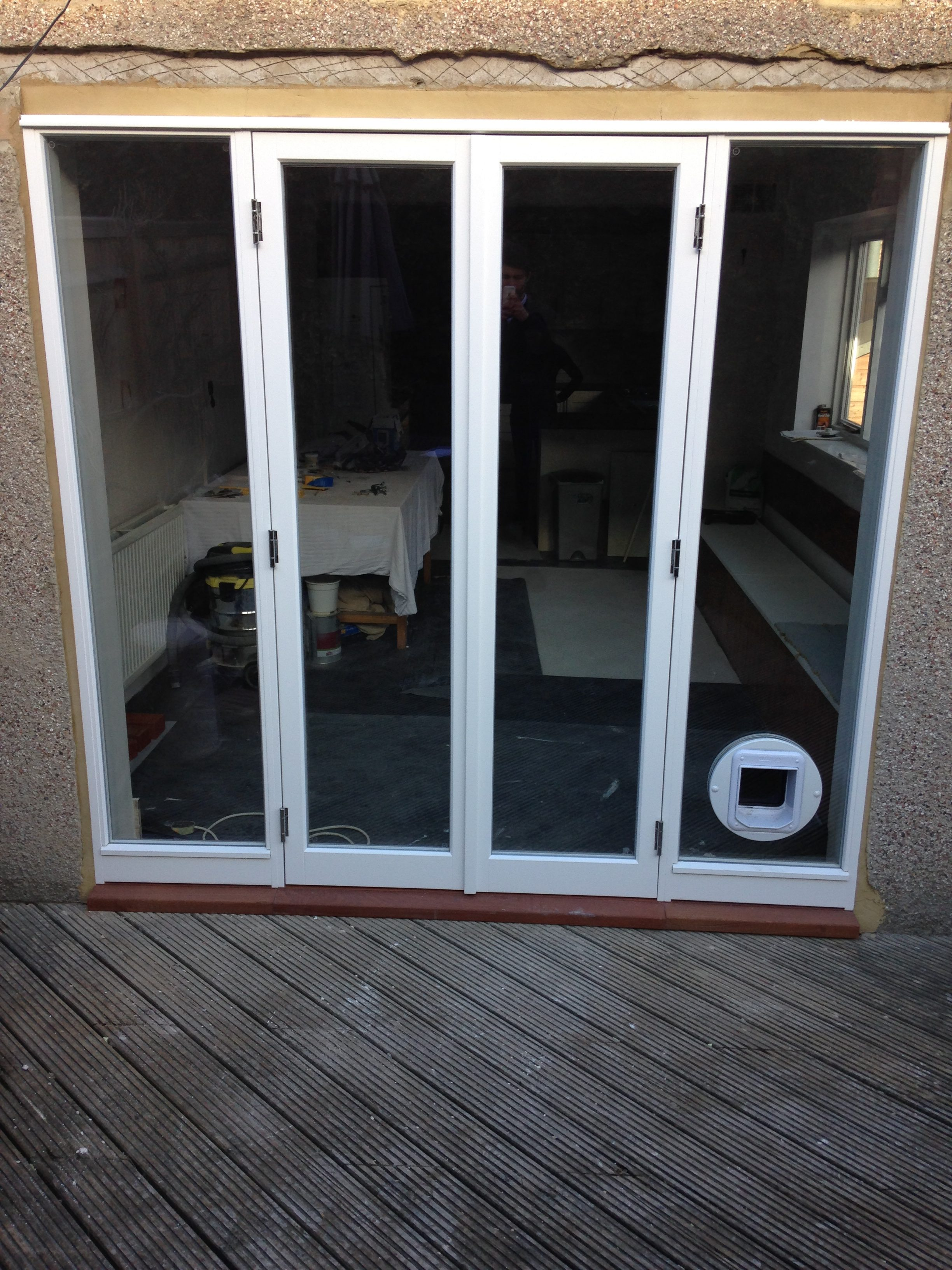Gallery Image: Slim-Lite French Doors /w Fixed Sidelights and Fitted Catflap