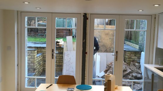 Gallery Image: 2x French Doors with Georgian Bars (mid installation)