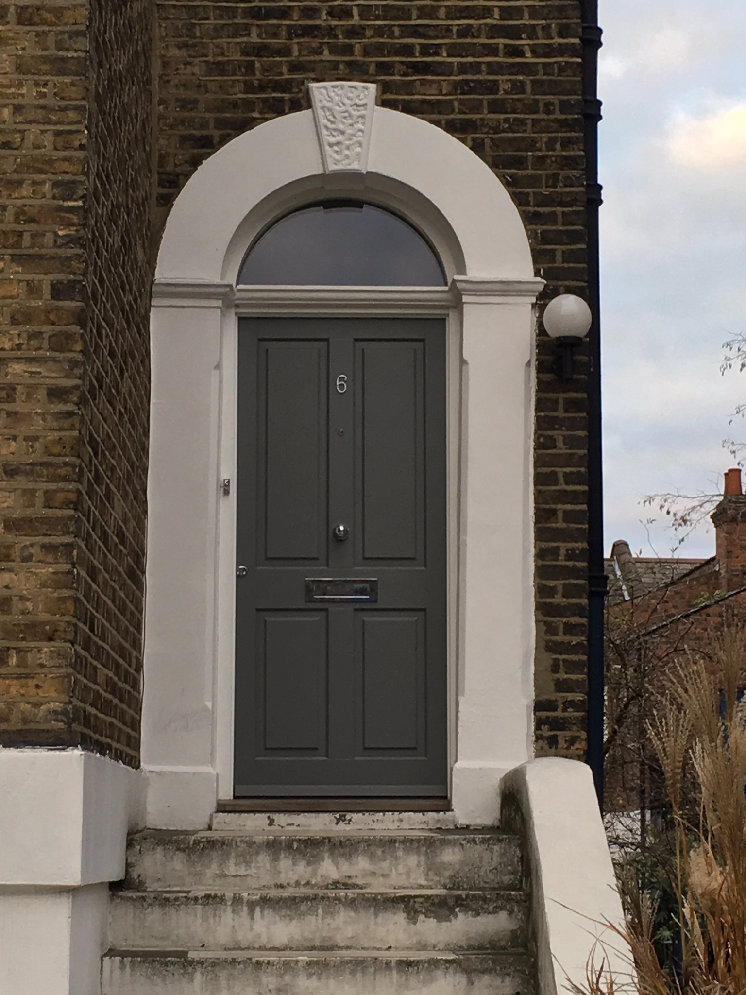 Gallery: Traditional Front Door /w Curved Fanlight
