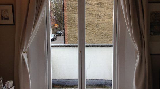 Gallery Image: Narrow Profile French Door /w Cat Flap