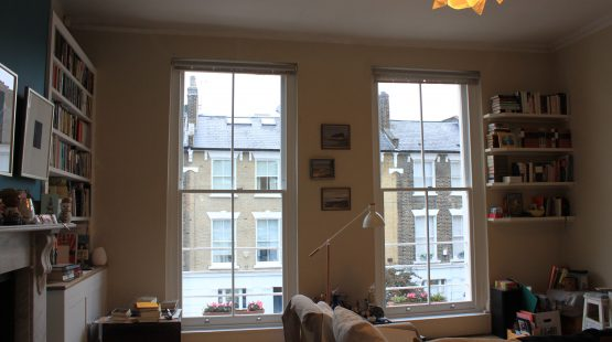 Gallery Image: Internal View of 2 over 2 Sash Windows in Modern Living Room