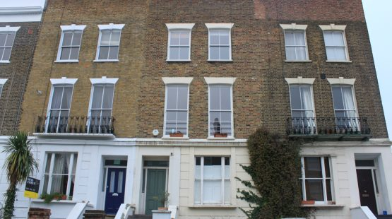 Gallery Image: Front Facade of Victorian Terrace Property - 2 over 2 Sash Replacement