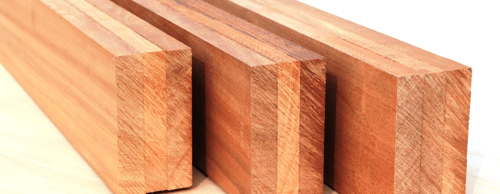 Close up engineered timber alternating grains