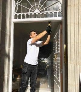 A door draught proof in Berkeley Square, Mayfair, London (W1S 4EL)