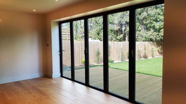 aluminium doors five leaf interior