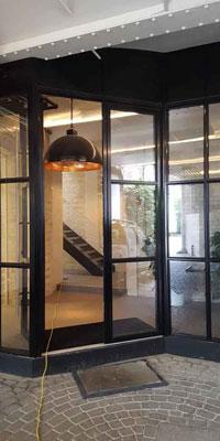 aluminium doors with Georgian bars