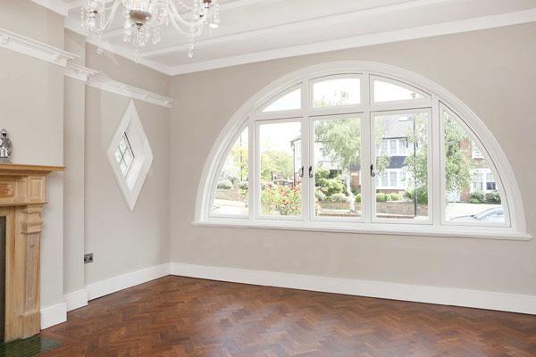 unique window with diamond window