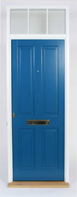 front-doors-blue-and-brass-letterbox
