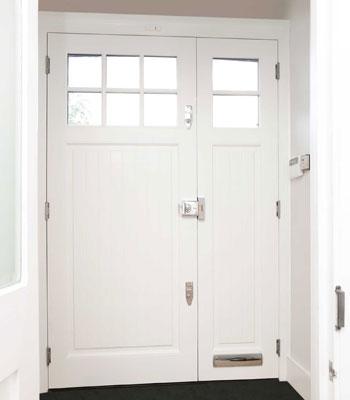 front doors interior with banham lock