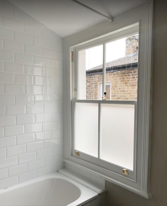 Hackney new bathroom sash window