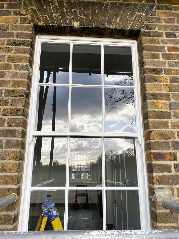 single glazed sash window in greenwich