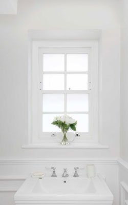 sash window satin glass bathroom