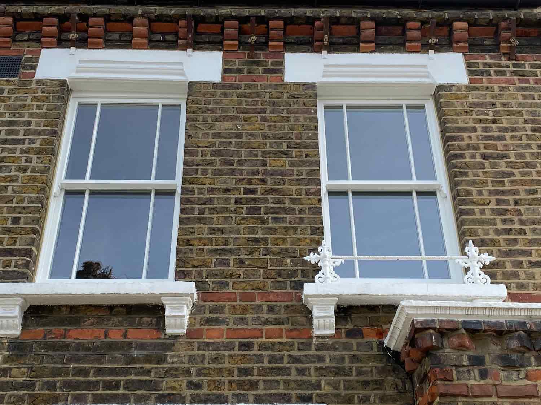 3 over 3 narrow timber sash windows