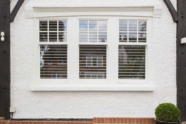 Double glazed sash windows bay