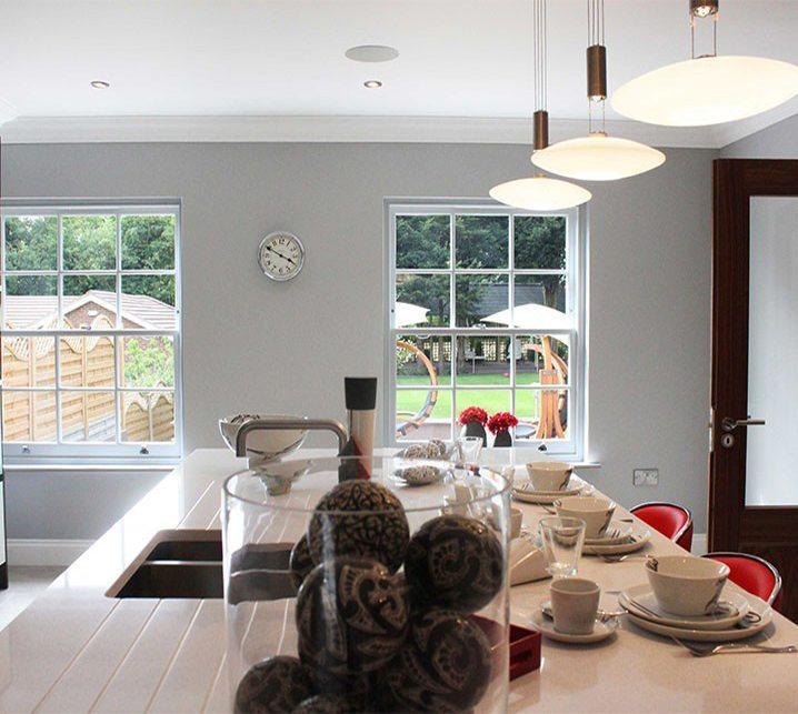 Double glazed sash windows kitchen