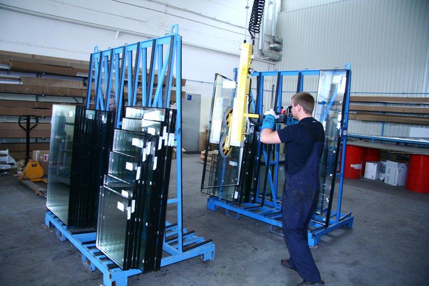 Sliding sash window glass manufacture
