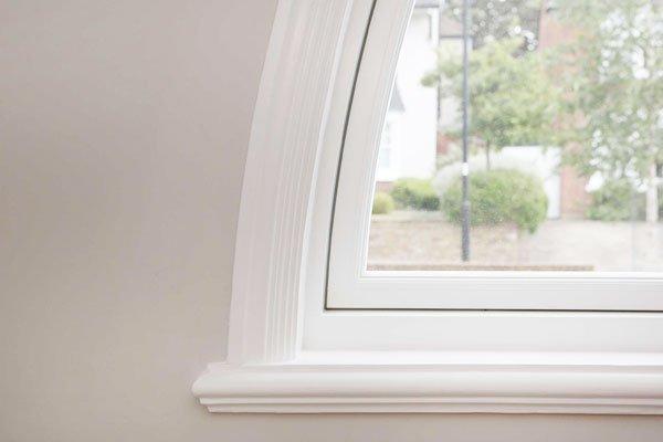 timber casement windows edge of semicircular window