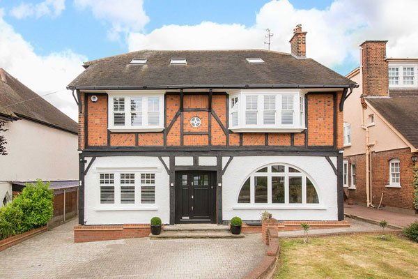 timber casement windows front of house