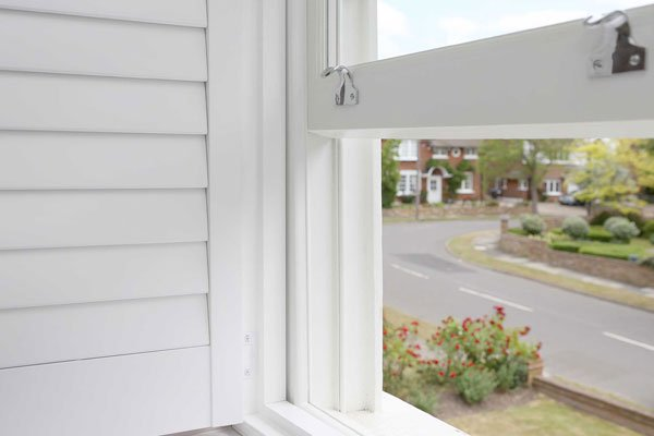 wooden sash windows and shutters