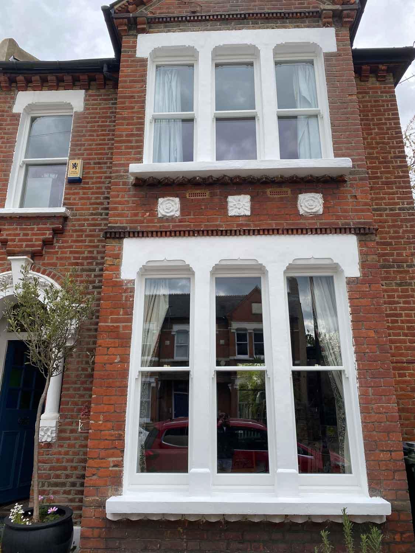triple box sash window lambeth exterior