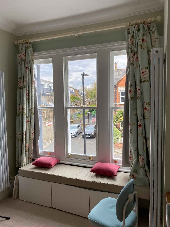 triple box sash window lambeth