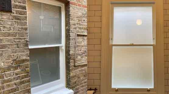 waltham forest sash window interior header