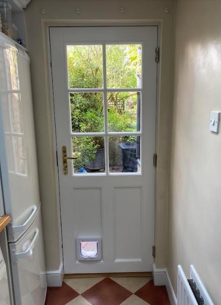 Haringey timber back door internal
