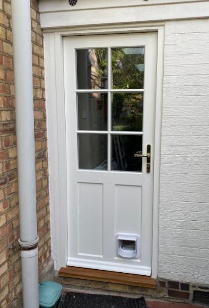 Haringey timber back door