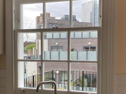 Hackney sash window